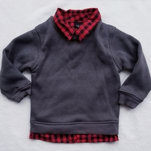 LITTLE REBELS Collared Sweater